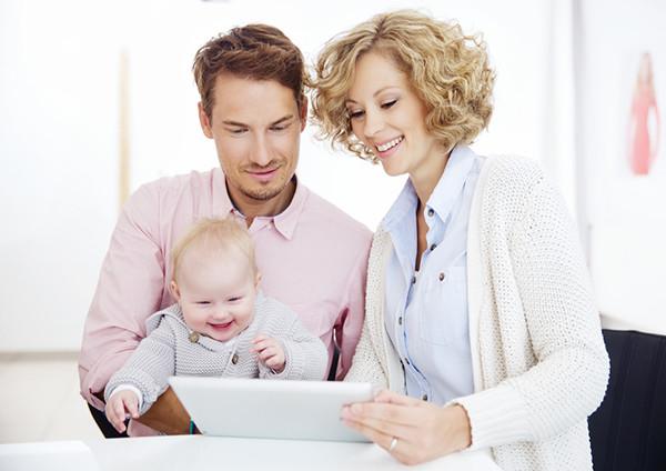 kommerzielles Make up, Studioaufnahme einer Familiensituation
