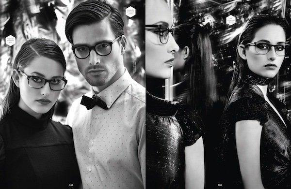 Brillenmake up and hairstyling made for Eyewear magazine