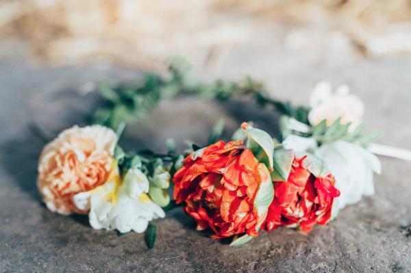 Blumenkranz für Hochzeiten