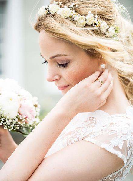 romantisches Profilbild einer Braut