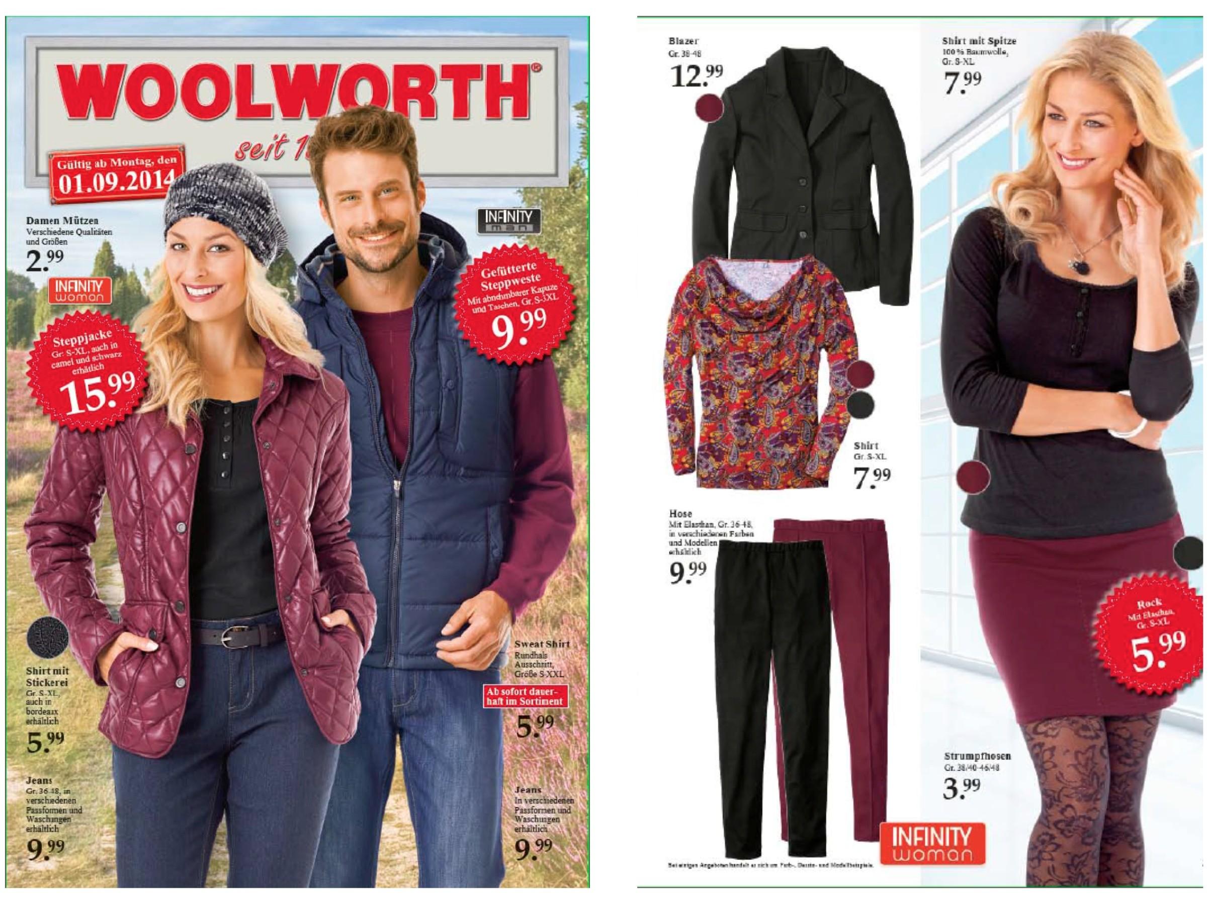 Styling für Woolworthwerbung