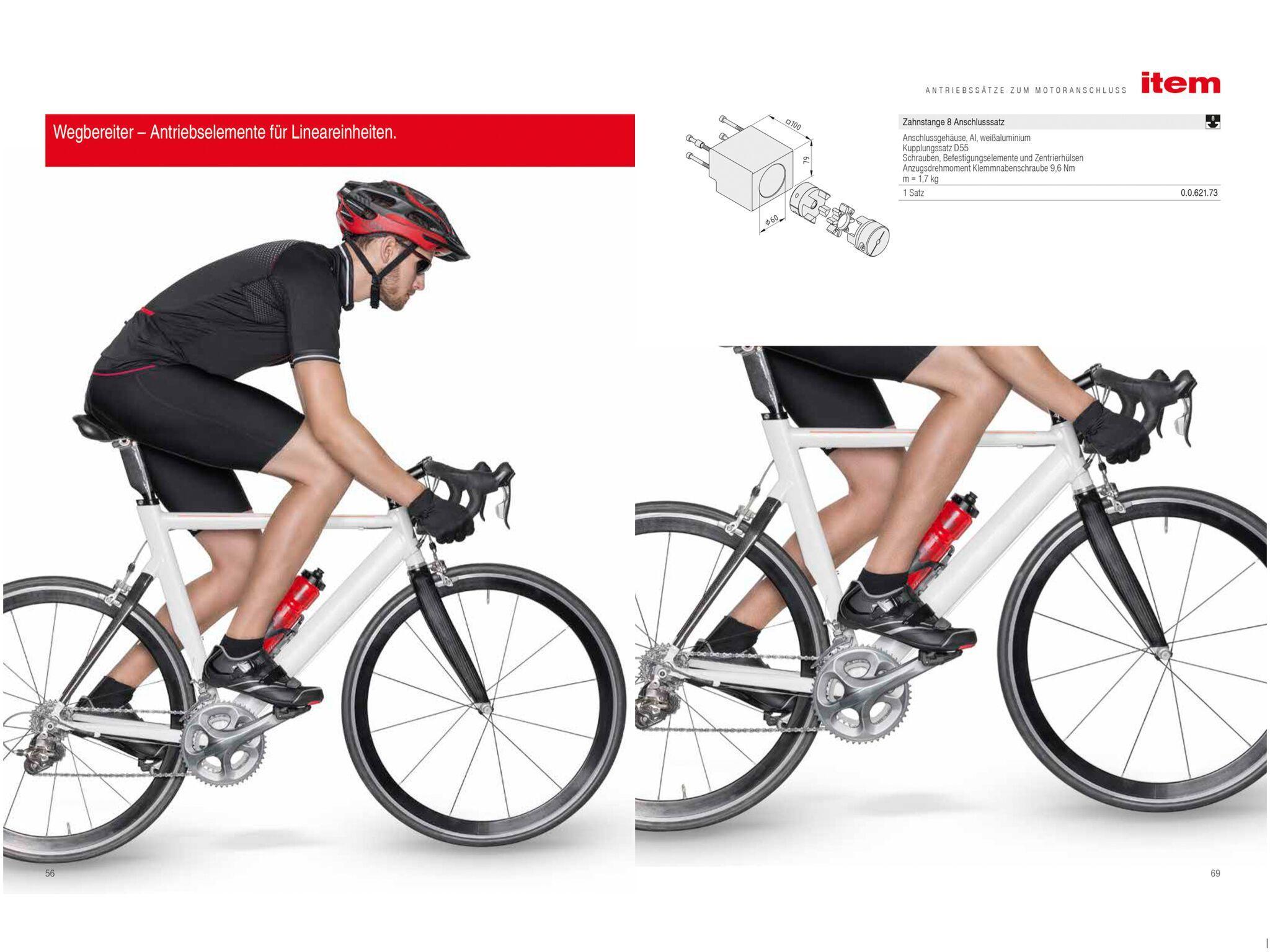Aufnahme eines Radfahrers für ein Sportshooting