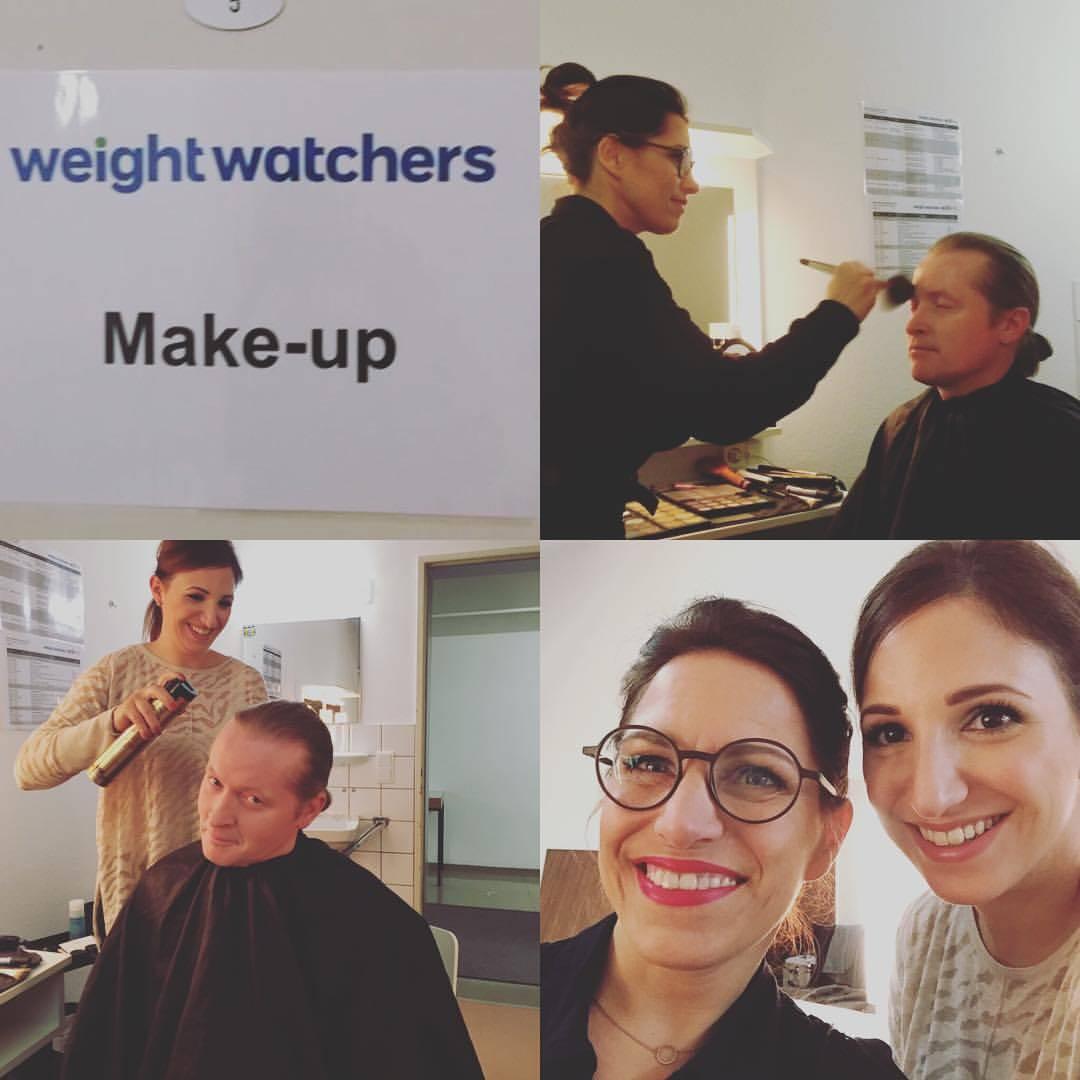 Celebrety Make up, Joey Kelly, Backstage Weight watchers Veranstaltung