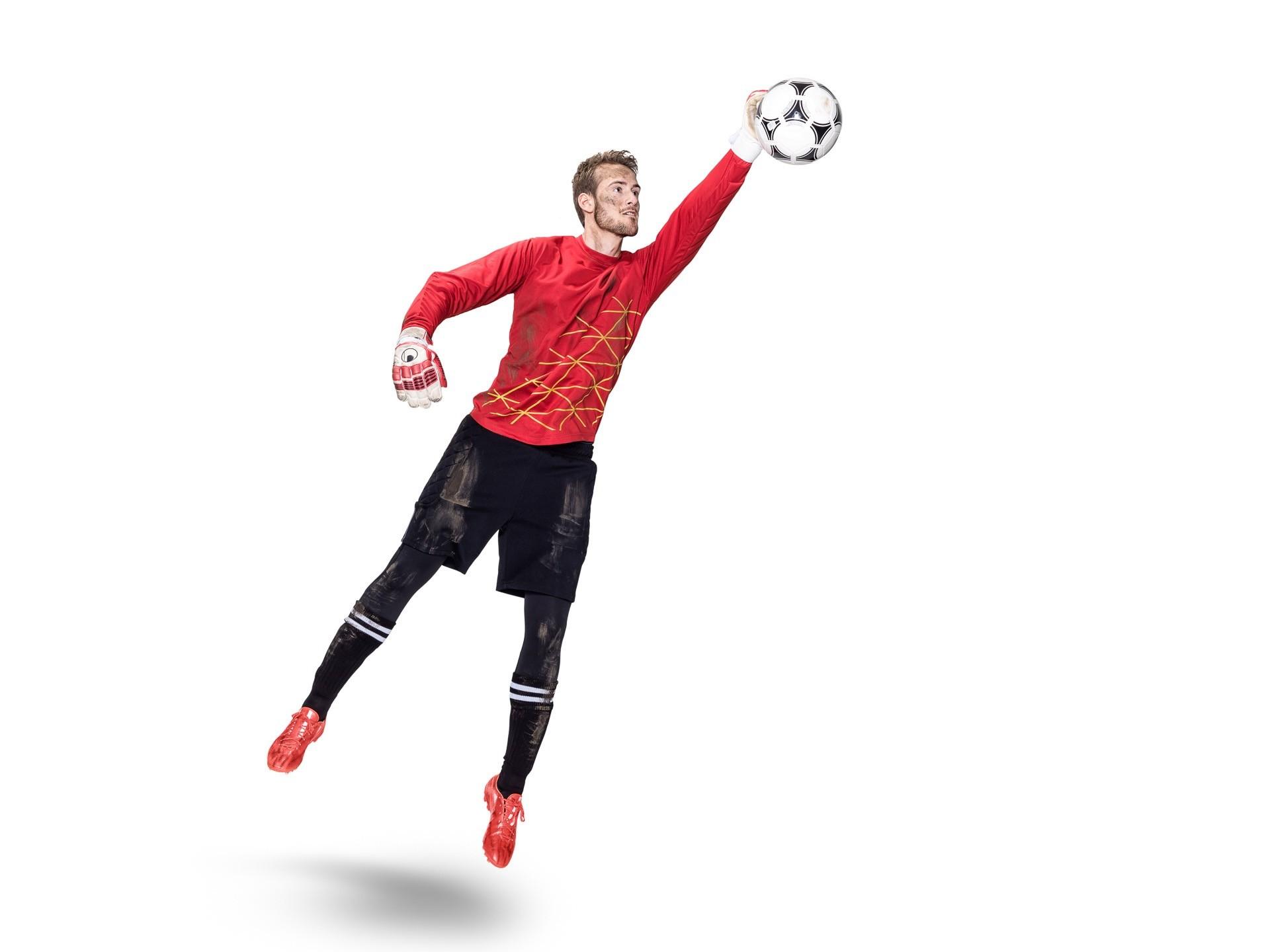 Sport Produktionen make up, Torwart Styling looks like having a real match