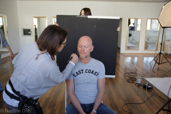 Promi Make up, Making of Rüdiger Hoffmann, Studioaufnahmen in Köln