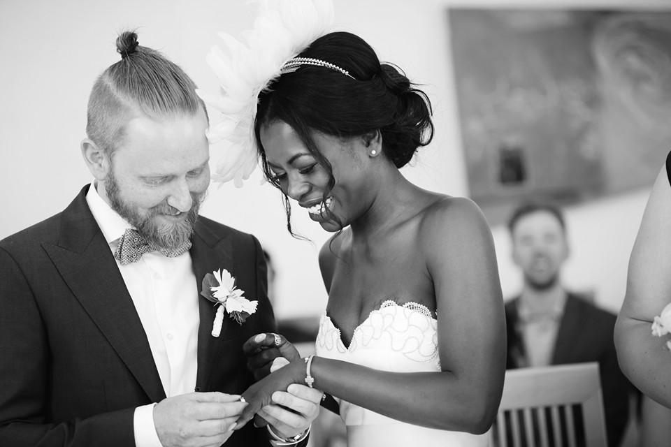 Trauung dunkelhäutige Braut, Styling Monika Mages