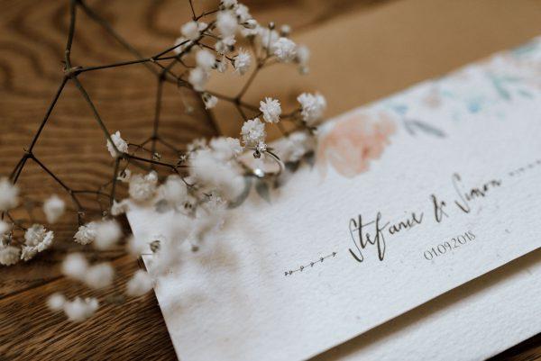 Wedding Papeterie schön, arrangiertes Foto