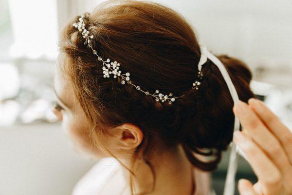 Haircrown, Hairband, braided wedding upstyle
