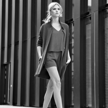 Model shoot im Düsseldorfer Hafen