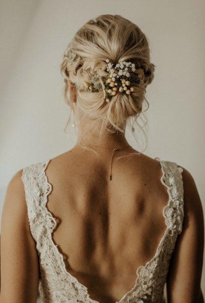 wedding up do Brautfrisur blonde Haare gesteckt